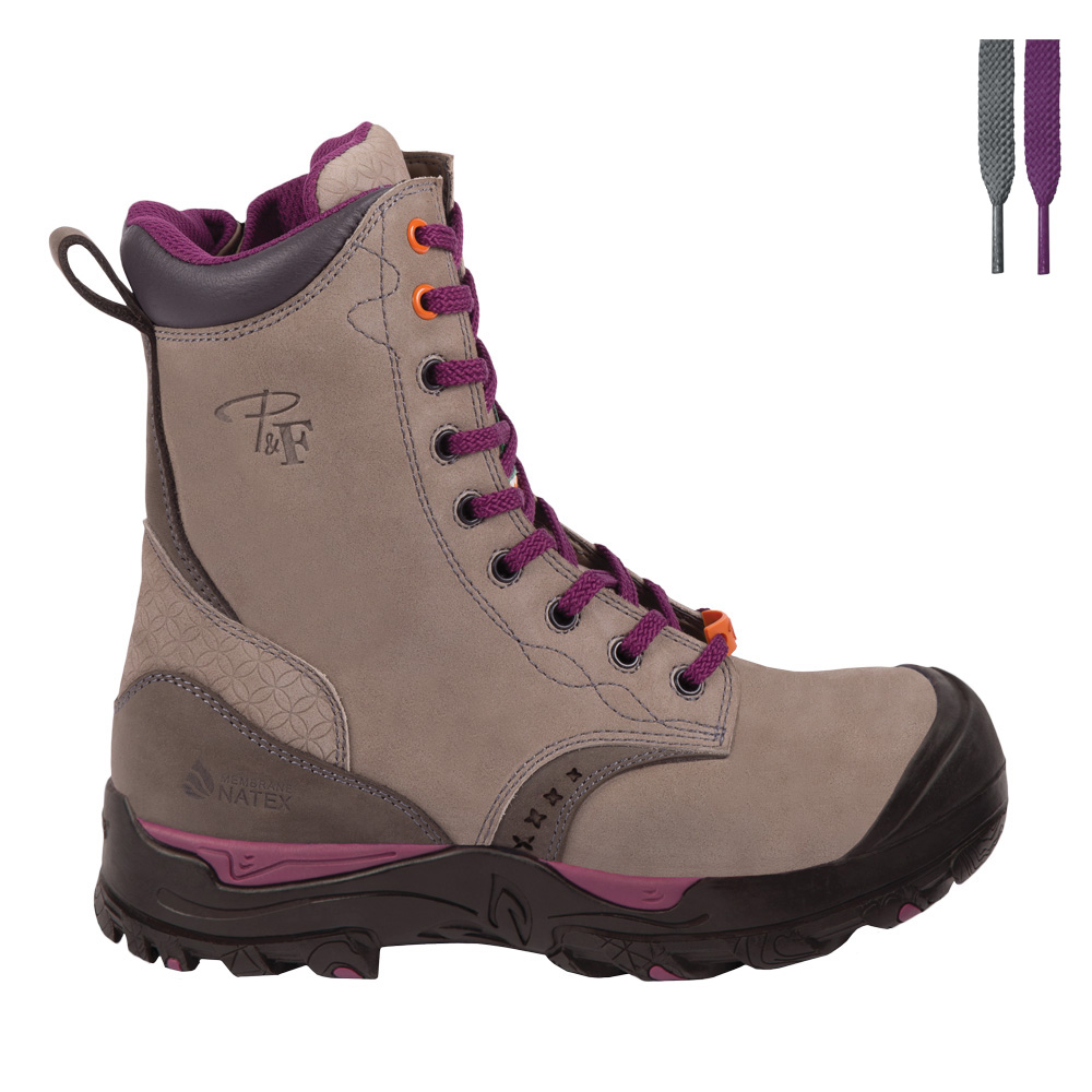 limited style latest trends lower price with Women's 8″ waterproof safety work boots with zipper – PF648