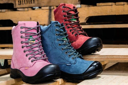 Women steel toe work boots