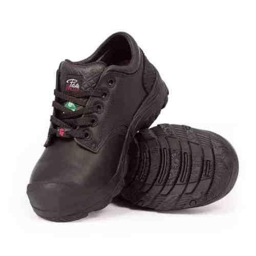 Women's steel toe safety shoes, black colour