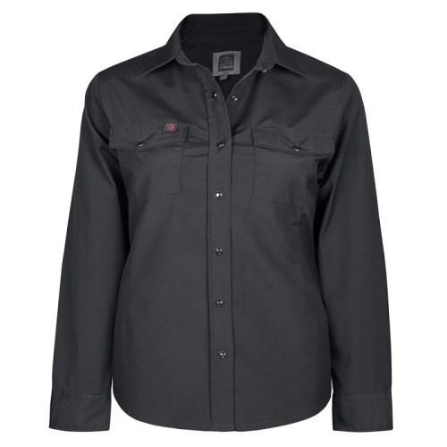 stretck work shirt for women plus sizew black