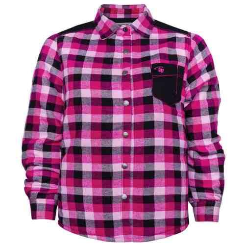 Padded plaid shirt – PF410 - Raspberry
