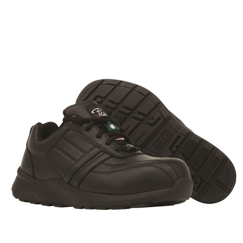 Steel toe safety shoes for women, Black