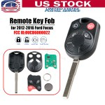 For 2012 2013 2014 2015 2016 Ford Focus Keyless Entry Remote Key Fob Oucd6000022 Ebay