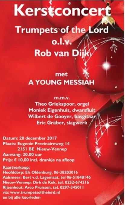 Kerst met Trumpets of the Lord m.m.v. Theo Griekspoor op 20 december 2017
