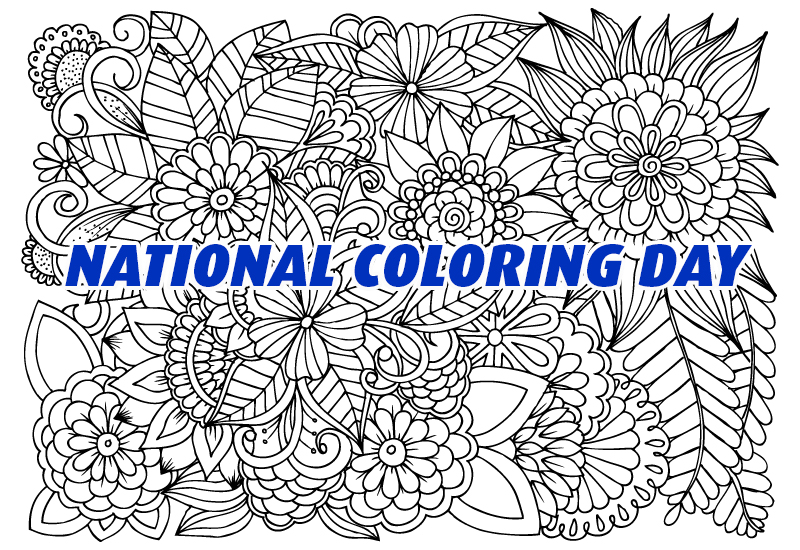 #NationalColoringBookDay  Free Coloring Book, Our Gift To You