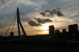 Sunset and... Erasmus Bridge!