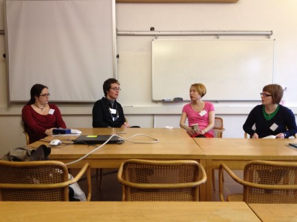 Sophie Mayer, Kate Clanchy, Jane Yeh and Alex Pryce (Sisters in Verse, Keynote panel discussion)