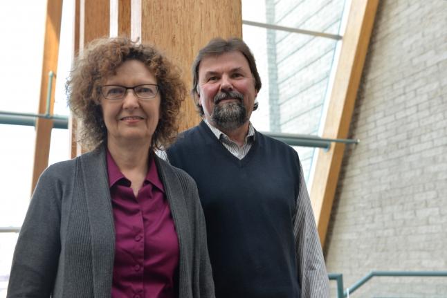 Economics Professors Dr. Fiona MacPhail and Dr. Paul Bowles.