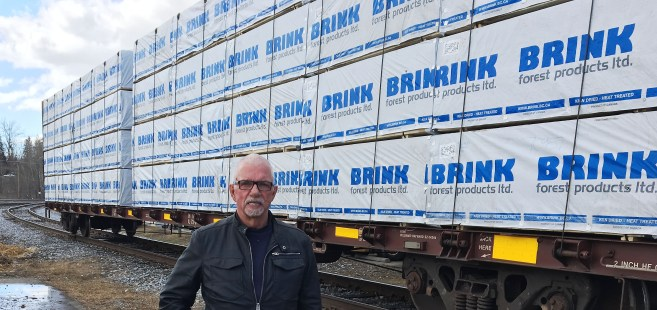 Brink Group of Companies owner John Brink fears secondary wood manufacturers will become 'collateral damage' in softwood lumber dispute. Bill Phillips photo