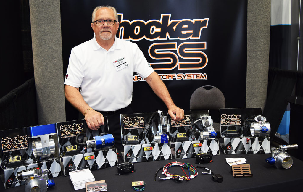 If you're running big diesel engines, then you'll want to talk to Dennis Polei of Headwind Solutions. He specializes Shocker Pass, a positive air shut off system for diesel engines. He was one of the many vendors at the Canada Resources North Expo at CN Centre on the weekend. Bill Phillips photo