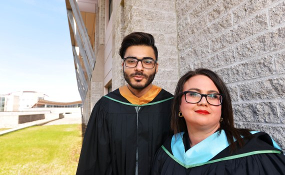 Shelly Niemi and Faran Rashid will be the 2017 valedictorians at the University of Northern British Columbia.