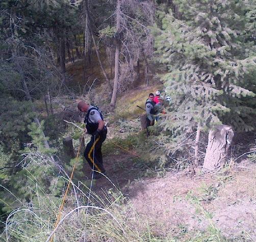 Stagecoach crash near Farwell Canyon. RCMP photo