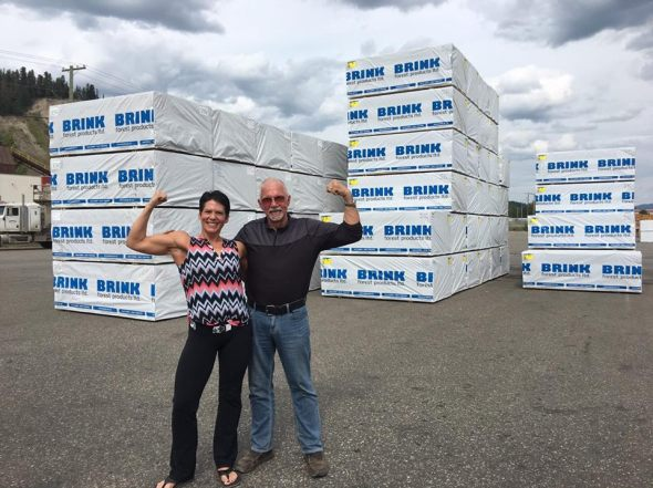 Diane Sim and John Brink. John A. Brink Investments is sponsoring Sim's journey to the Pro-Am Expo provincial body-building championships in Vancouver next week.