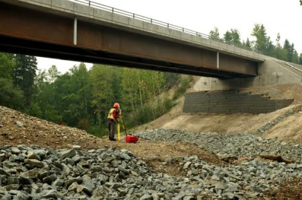 The bridge on Willow Cale Road at Haggith Creek will be closed to vehicle traffic starting on Friday, September 1 at 5 p.m. to allow for an important construction operation. City of Prince George photo