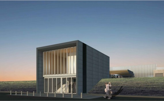 Artist's rendering of the elevator project at the Prince George airport.