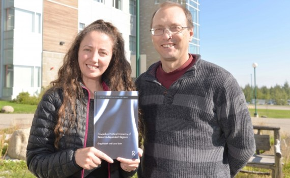 Laura Ryser and Dr. Greg Halseth have collaborated on a new book on resource-dependant communities in the global economy. UNBC photo