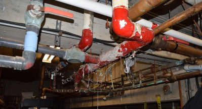 Some piping under the Four Seasons Pool. Bill Phillips photo