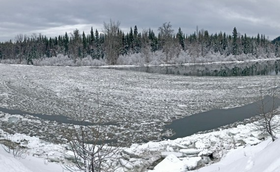 Ice on the Nechako River. City of Prince George photo