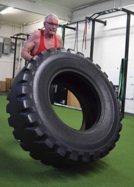 The tire's only about 380 pounds.