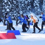 Skiers make their way around the track at the Otway Nordic Ski Centre. Bill Phillips photo