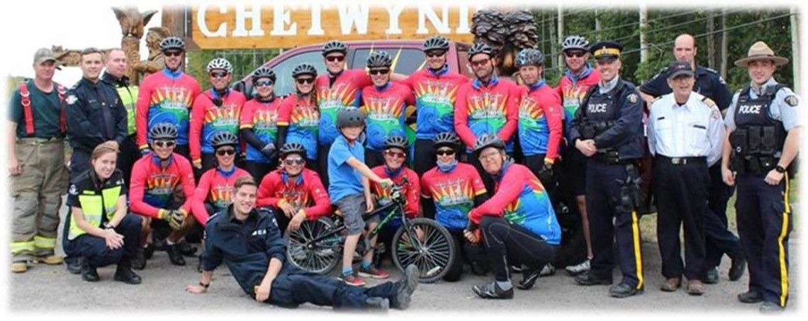 The Cops for Cancer Tour de North kicks off Friday morning at Heather Park Elementary School. The riders will embark on a week-long cycle trip to Prince Rupert, raising funds to fight pediatric cancer and to support Camp Goodtimes.