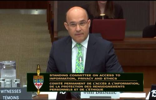 Jim Balsillie responds to MP Zimmer's question regarding Canada's democracy and personal data use
