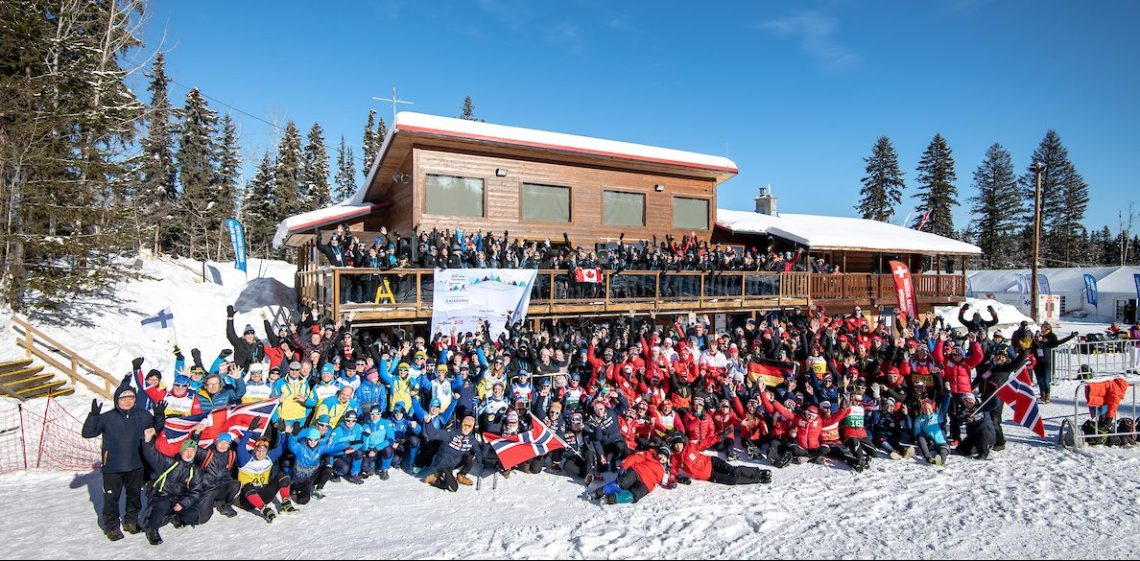 All the athletes, their support teams, volunteers, the organizing committee, officials, sponsors, elected officials and other special guests at the World Para Nordic Skiing Championships. Kelly Bergman/BergMedia