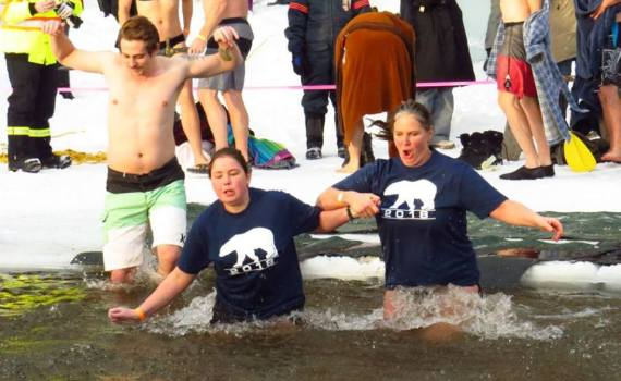 Ninety-six brave (?) people took part in the annual Ness Lake Polar Bear Dip January 1. The event raised just under $11,000 and the funds will go towards sending Harwin children to camp next summer. Chuck Chin/Hell Yeah Prince George photo For Chuck Chin's full set of photos - click here