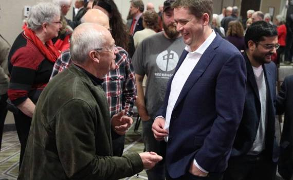 Conservative Party leader Andrew Scheer was in Prince George Monday for a party fundraiser. Facebook photo