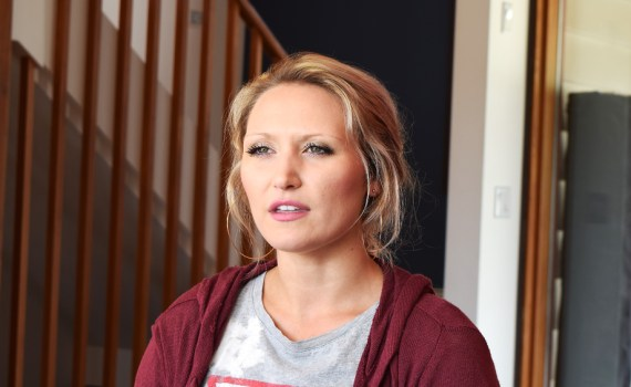Brooklyn Derksen talks about her struggle with mental illness. Bill Phillips photo