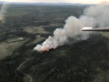 Dog Creek fire northwest of Vanderhoof. B.C. Wildfire Service photo