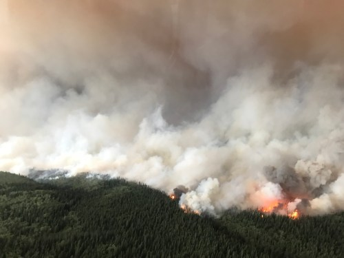 The South Stikine fire August 6. BC Wildfire Service photo