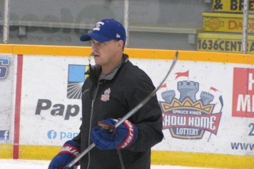Prince George Spruce Kings coach Adam Maglio.