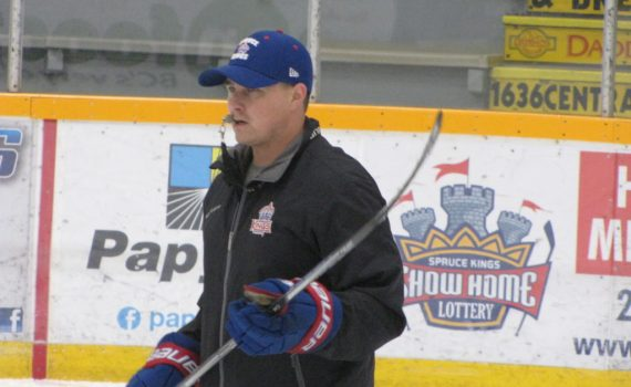Prince George Spruce Kings coach Adam Maglio.