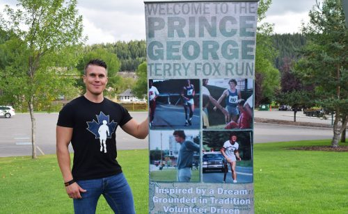 Local Terry Fox Run organizer Scott McWalter is ready at the run's new location this year ... The Exploration Place. The run goes Sunday morning at 10 a.m. Bill Phillips photos