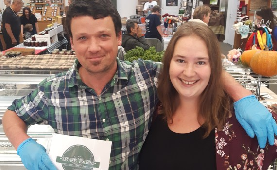 Andrew Adams of Hope Organic Farms and Teresa DeReis from Adventures in Self-Sufficiency are teaming up to provide an artisan soap collection.