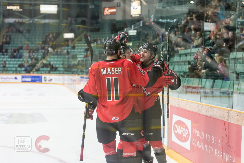 The Prince George Cougars downed the Kelowna Rockets 7-2 Friday night. James Doyle photo