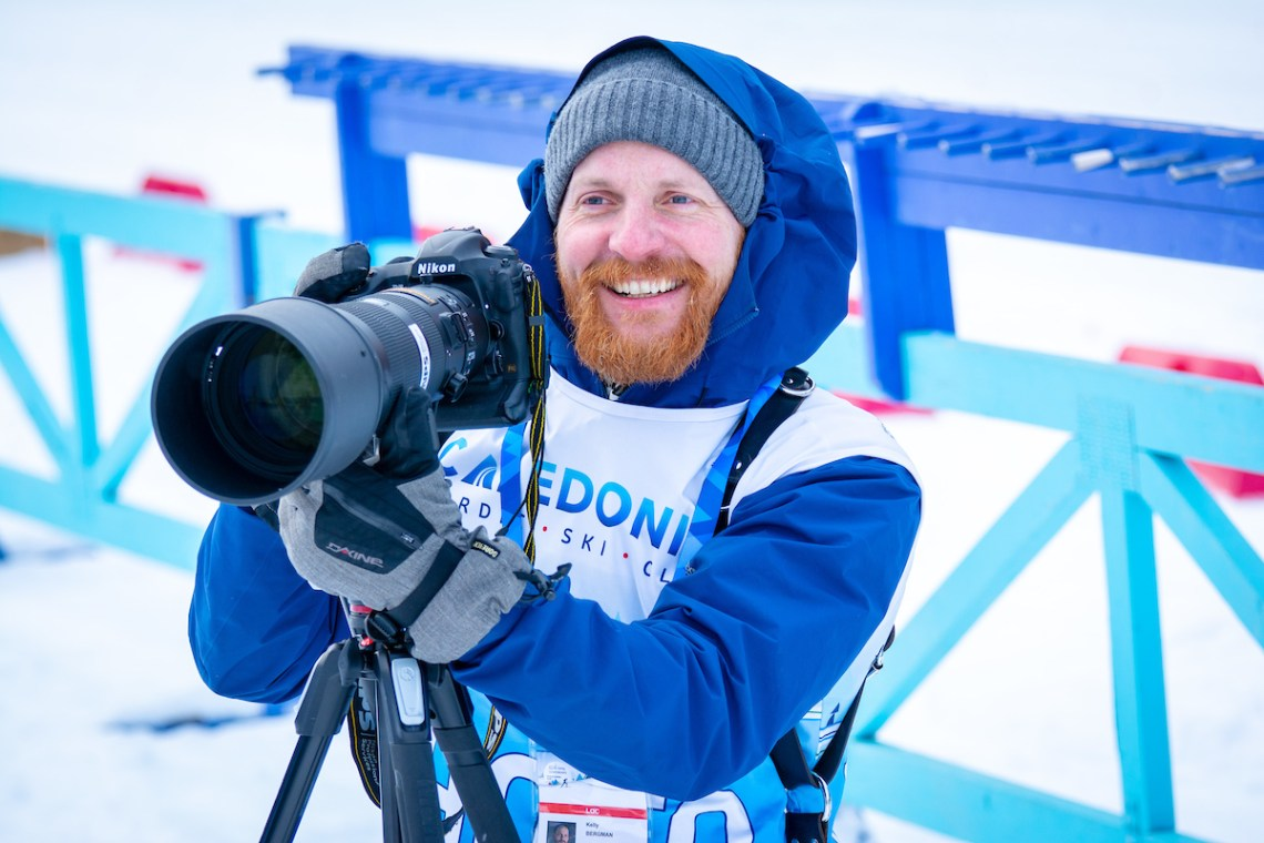 Local photographer Kelly Bergman of BergMedia is one of several photographers capturing the action for the World Para Nordic Skiing Championships. Ian Hyslop photo