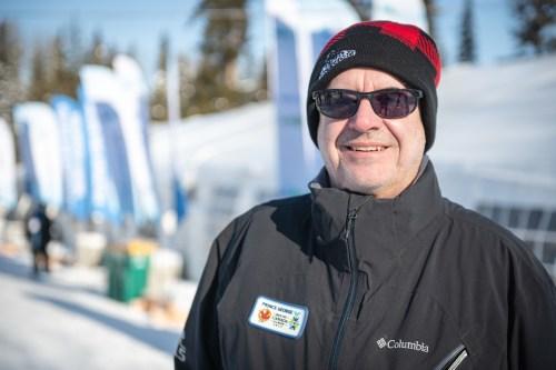 Mayor Lyn Hall out enjoying the World Para Nordic Skiing Championships in Prince George. Kelly Bergman/BergMedia
