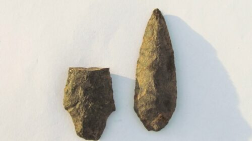 Possible artifacts discovered  south of Houston. Unist'ot'en Camp photo
