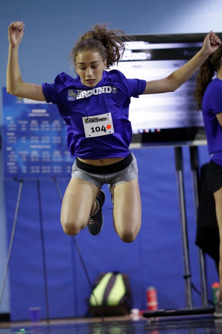 Athlete Chloe Daniels at the RBC Training Ground in Toronto June 2, 2018. Kevin Light photo