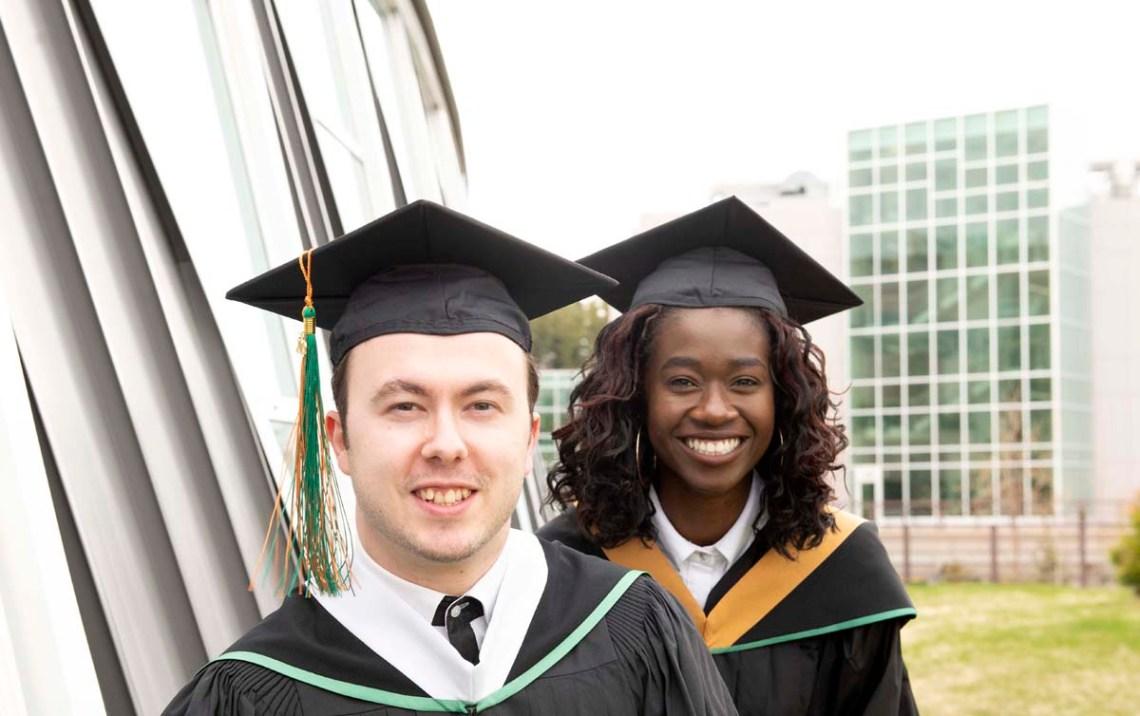 Emilio Caputo (left) and Raliat Abioye will be the 2019 valedictorians at the University of Northern British Columbia. UNBC Photo
