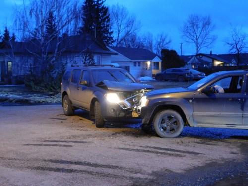 Man arrested in Dawson Creek after police car rammed