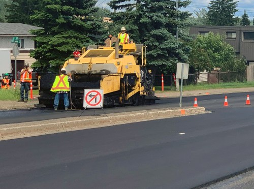Paving projects underway in the city