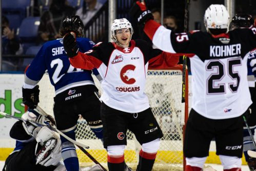 Cougars win third straight with second period rally over Royals