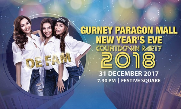 Countdown to 2018 at Gurney Paragon Mall