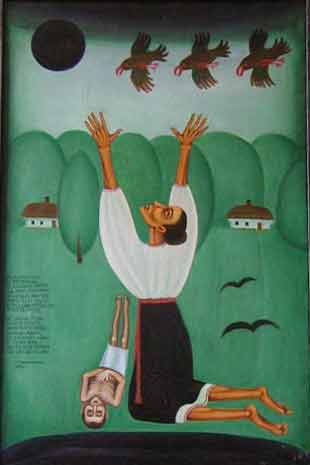 The Great Famine - Ivan Novobranets - Folk Art