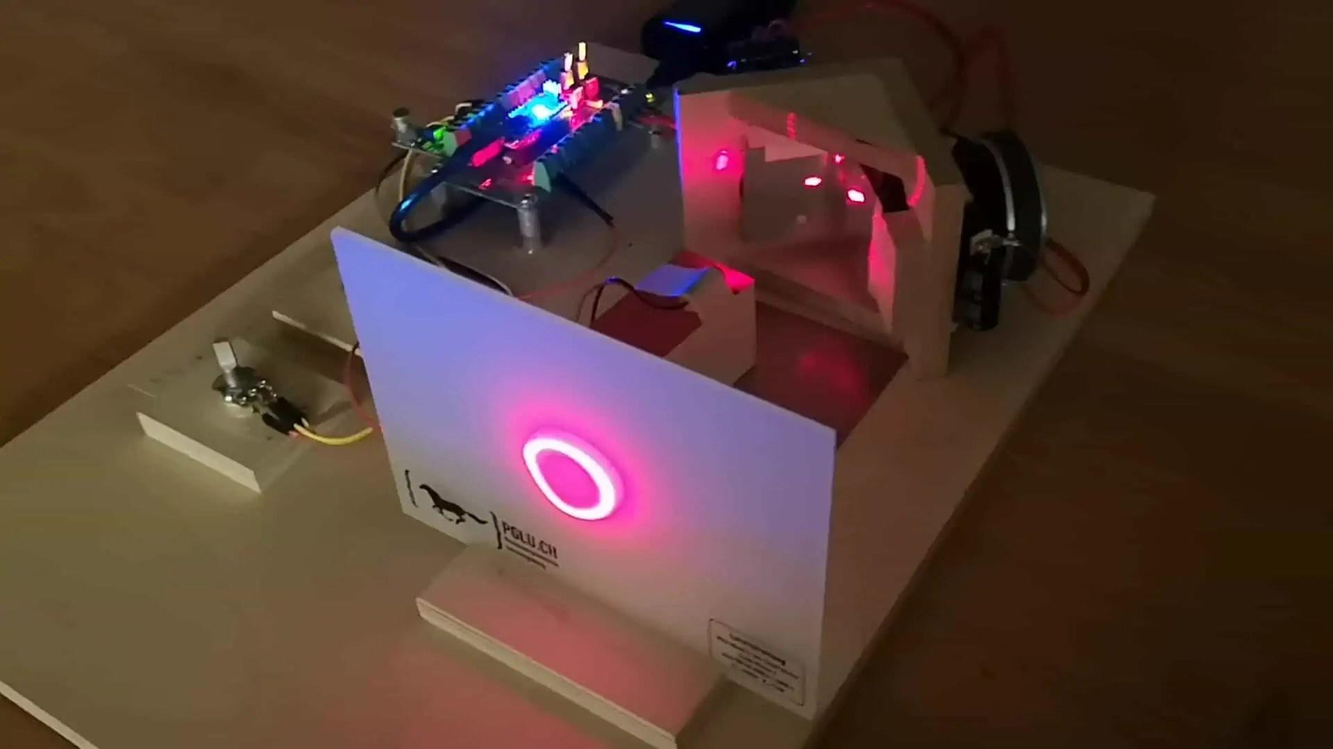 Schülerarbeit aus dem Werken: Lasershow