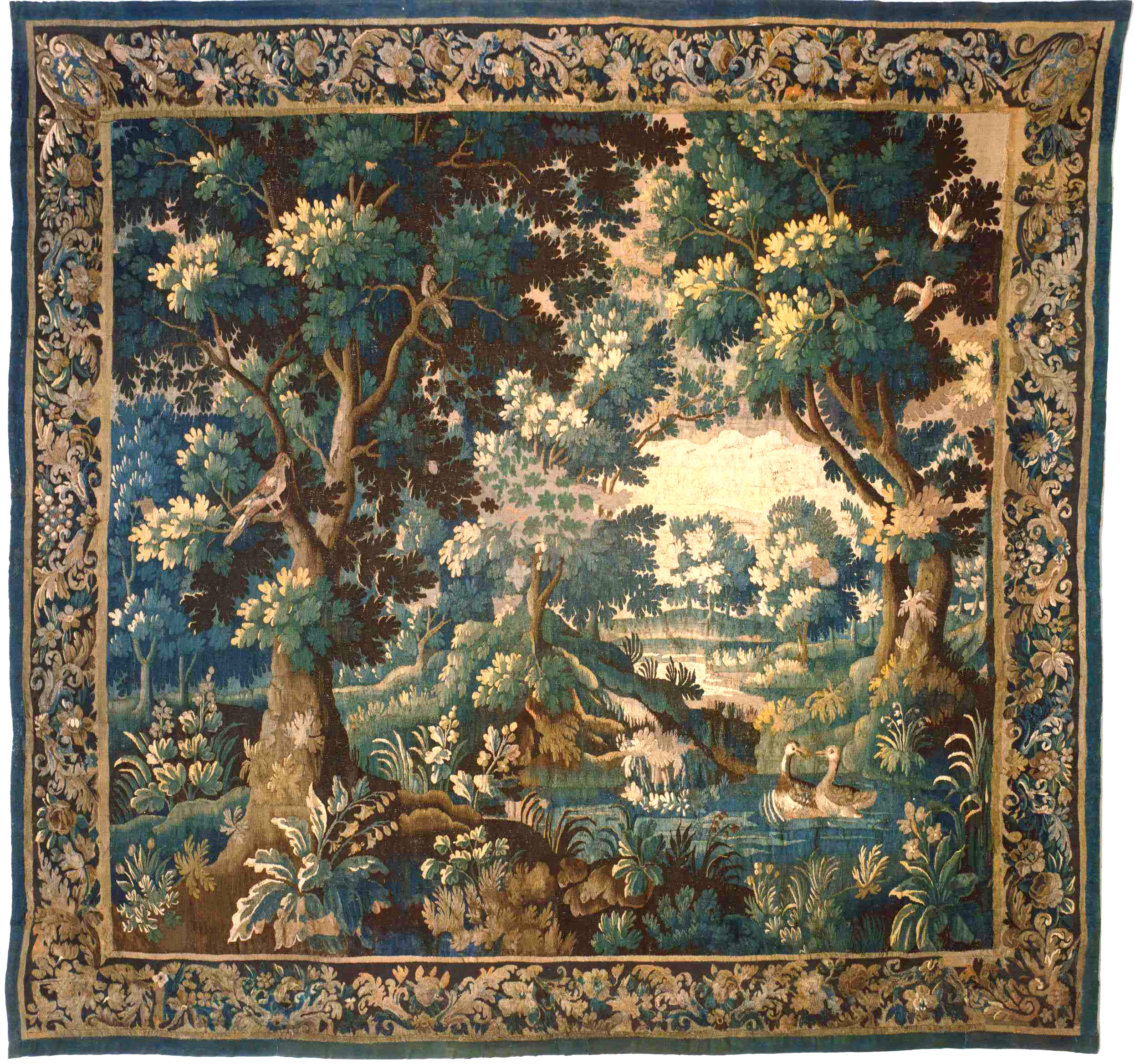 Pgny Antique Tapestry On Display In The Showroom Of
