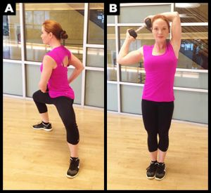 Step back exercise with weight